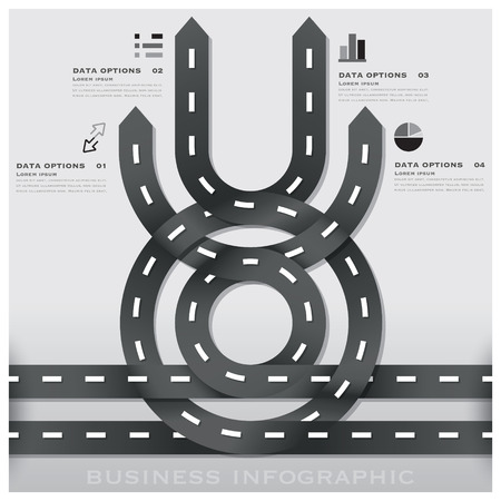 Road And Street Traffic Sign Business Infographic Background Design Template Vector