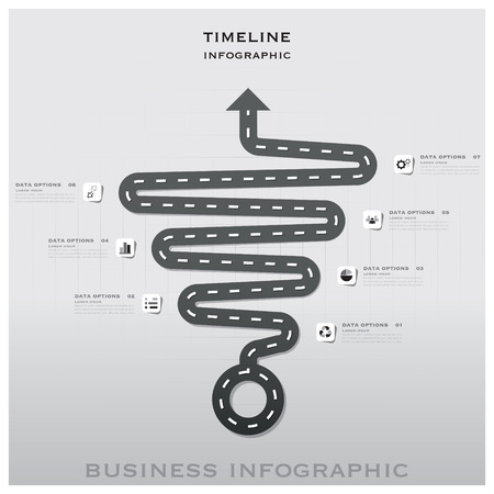 Road And Street Traffic Sign Timeline Business Infographic Background Design Template Vector