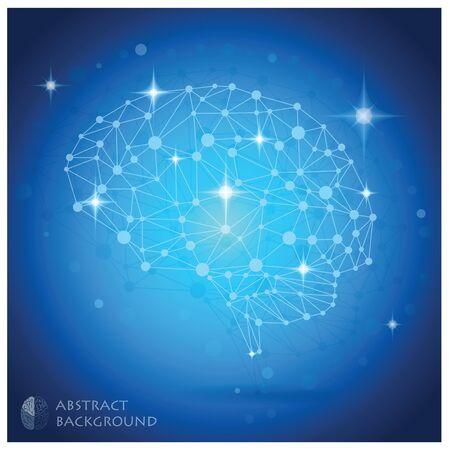 Gehirn-Form Vektor Abstrakte geometrische Hintergrund Design-Vorlage