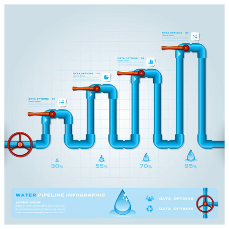 Water Pipeline Business Infographic Design Template