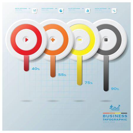 Moderne Kreis-Infografik Design-Vorlage