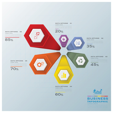 Modern Hexagon Business Infographic Design Template Vector