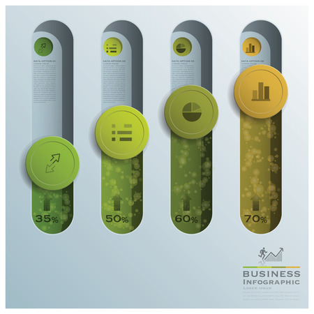 Business Infographic Circle Button Tube Design Template