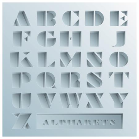 Loch Alphabets Schriftstil-Design-Vorlage