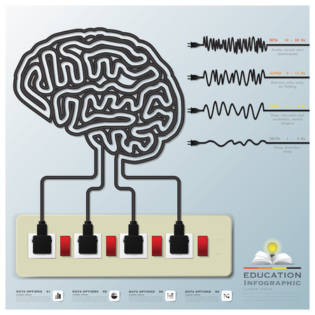 Mind Modulations Brainwave Education Infographic Design Template Vector