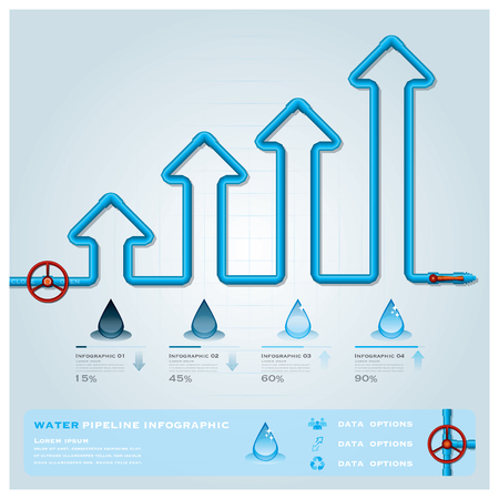 pipe water pipeline: Water Pipeline Business Infographic Design Template