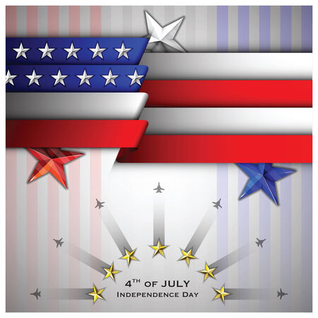 Independence Day Celebrate Background Design Template Vector