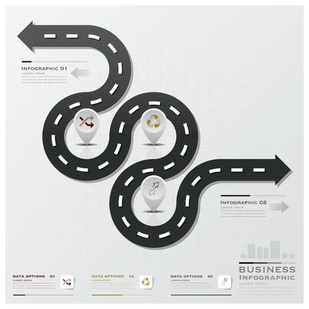 Stra�en-und Stra�en Business-Infografik Design-Vorlage Illustration