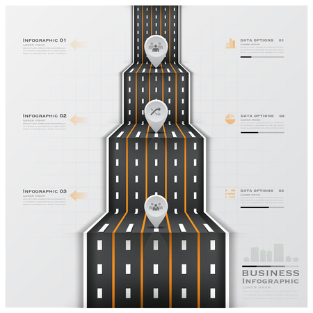 Road And Street Traffic Sign Business Infographic Design Template Vector