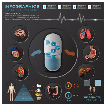 Health And Medical Infographic Infocharts Science Background Design Template Ilustracja