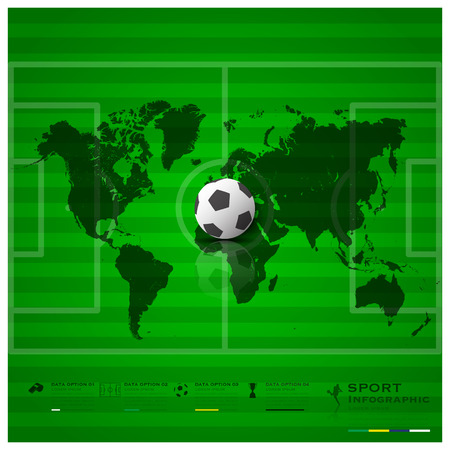 Football Field Sport Infographic Background