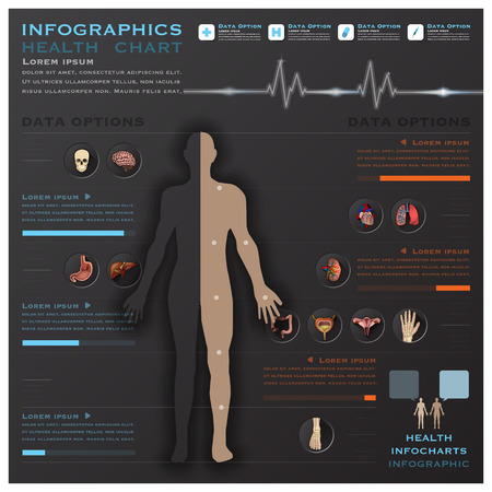 Health And Medical Infographic Infocharts Science Background Design Template Illustration