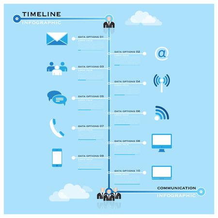 Timeline-Kommunikation, Gesch�ftsleben Informationsgrafik Design-Vorlage