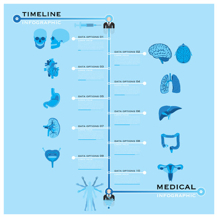 Timeline Health And Medical Infographic Design Template Vector