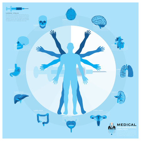 Health And Medical Infographic Design Template Illustration