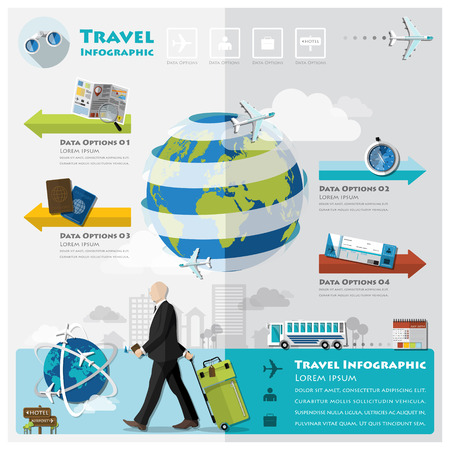 concepts: Travel And Journey Business Infographic Design Template Illustration