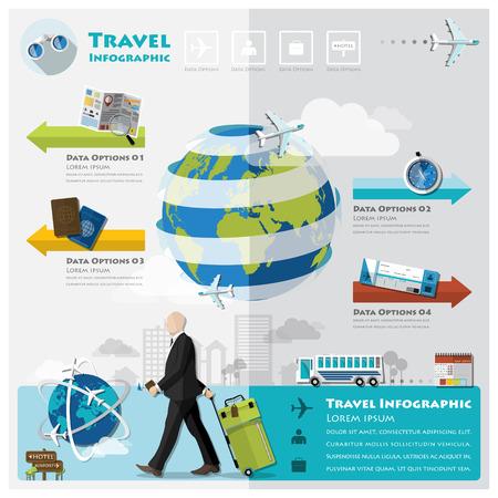 Voyage et Voyage d'affaires Infographie modèle de conception