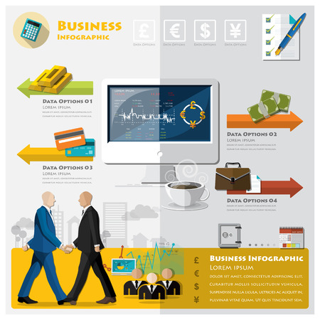 stock chart: Business And Financial Infographic Design Template