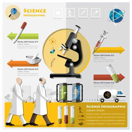 experimentation: Science And Experimentation Infographic Design Template