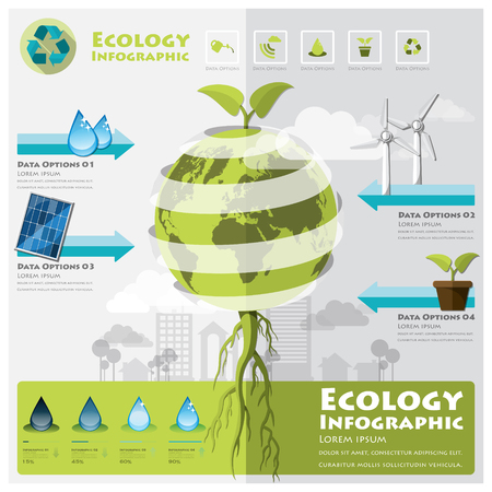 abstract recycle arrows: Ecology And Environment Infographic Element Design Template