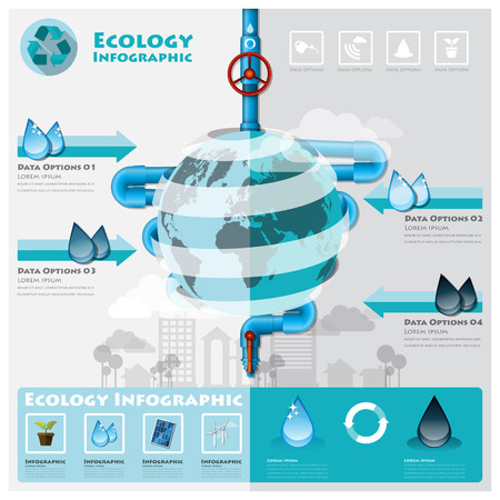 Ecology And Environment Infographic Element Design Template Vector