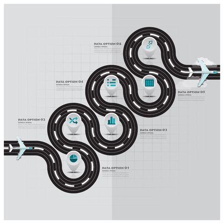 旅行・旅滑走路ビジネス インフォ グラフィック デザイン テンプレート