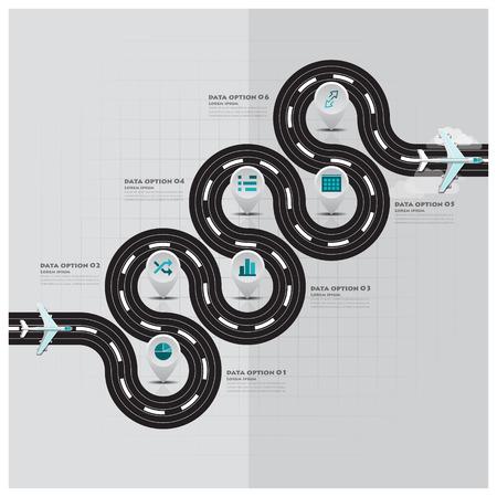 Reise-und Gesch�ftsreise Runway Infografik Design-Vorlage Illustration