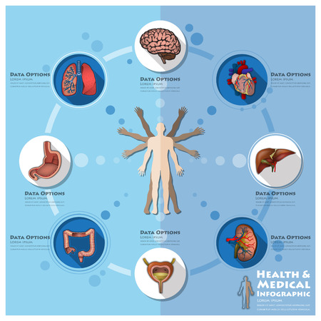 Health And Medical Infographic Infocharts Science Background Design Template Vector