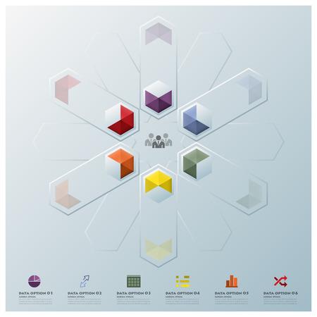 Moderne Fusion Hexagon Geometrische Form Gesch�ftsinfografik Design-Vorlage