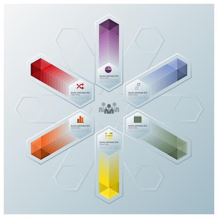desarrollo económico: Hexágono Moderno Forma geométrica del modelo del asunto Infografía Diseño