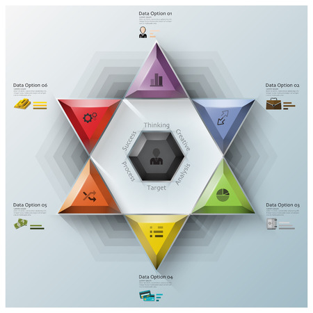 develop: Modern Fission Triangle And Hexagon Business Infographic Design Template