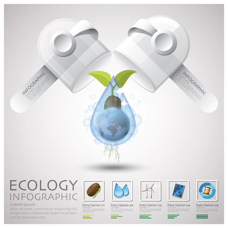Pill Capsule Global Ecology And Environment Infographic Design Template
