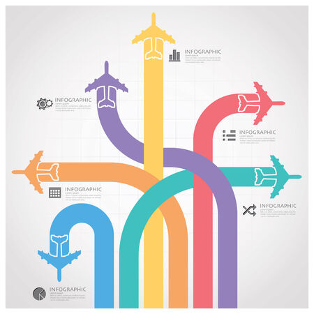 aeroplane: Business Journey With Global Airline Infographic Diagram Design Template