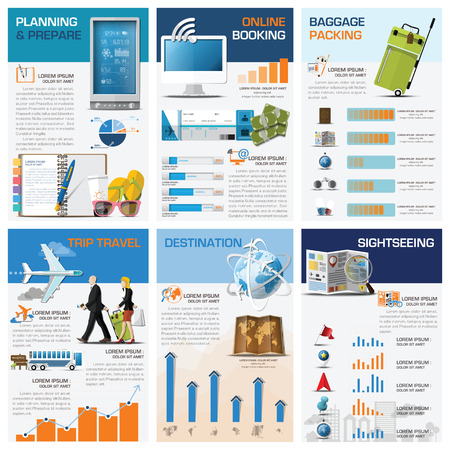 illustration journey: Travel And Journey Chart Diagram Infographic Design Template