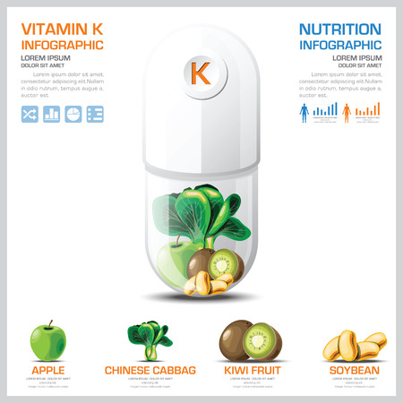 Vitamin K Chart Diagram Health And Medical Infographic Design Template 일러스트