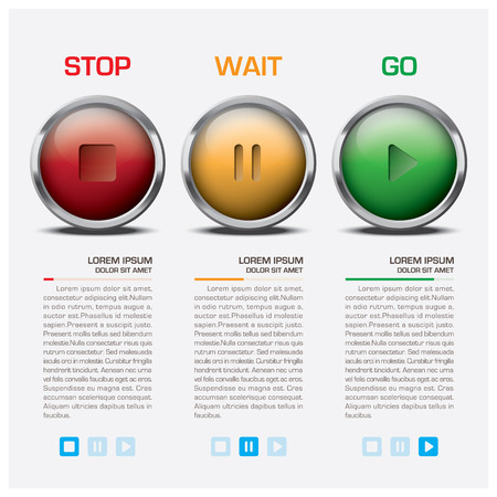 Traffic Light Sign Infographic Vector Design Template Illustration
