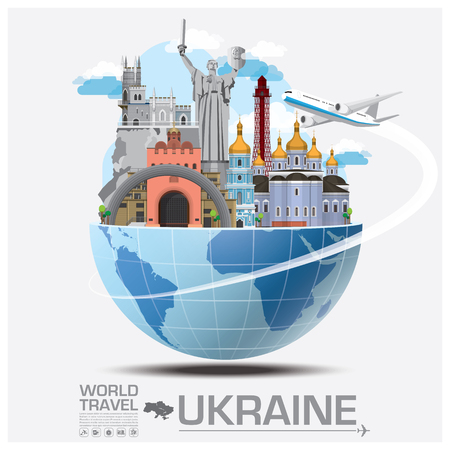 Ukraine Landmark Global Travel And Journey Infographic Vector Design Template