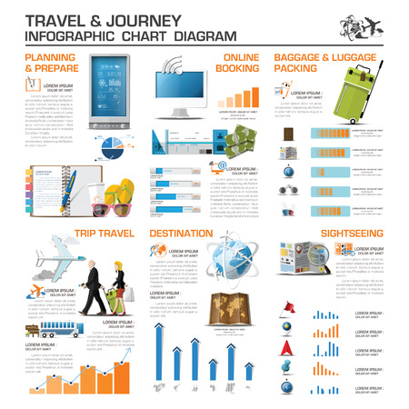 Travel And Journey Infographic Chart Diagram Vector Design Template
