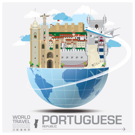 Portuguese Republic Landmark Global Travel And Journey Infographic Design Template 일러스트