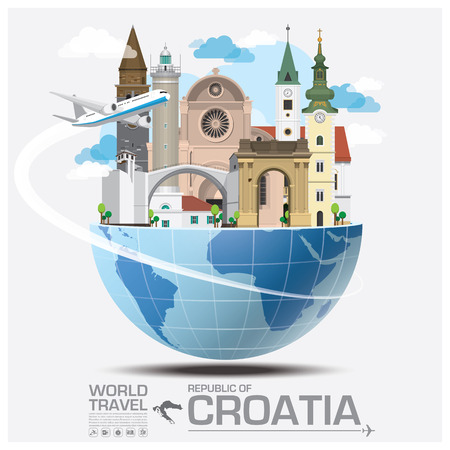 Republic Of Croatia Landmark Global Travel And Journey Infographic Design Template