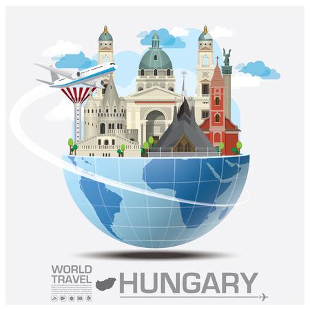 Ungarn Zeichen Global Travel And Journey Infografik-Design-Vorlage
