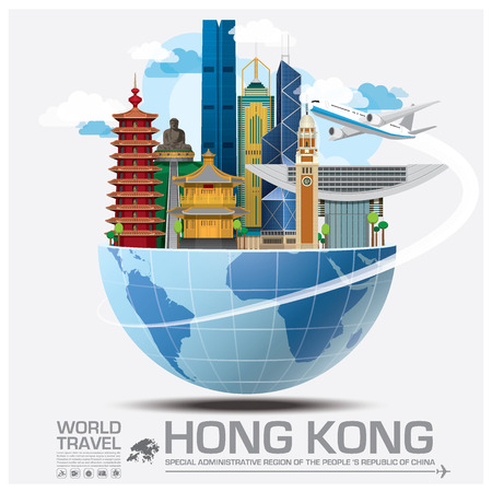 Hong Kong Landmark Global Travel And Journey Infographic Design Template