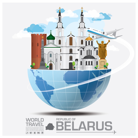 Republic Of Belarus Landmark Global Travel And Journey Infographic Vector Design Template 일러스트