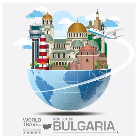 bulgaria: Republic Of Bulgaria Landmark Global Travel And Journey Infographic Vector Design Template