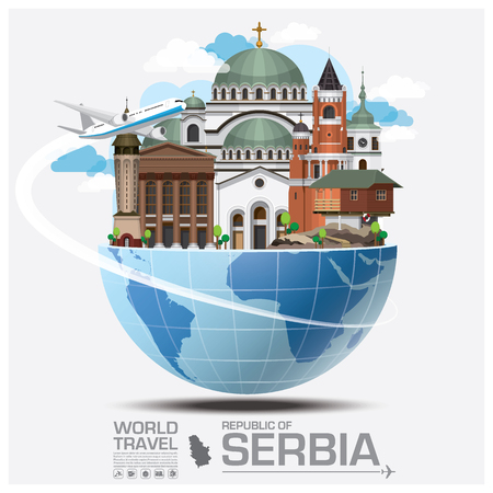 Republic Of Serbia Landmark Global Travel And Journey Infographic Vector Design Template