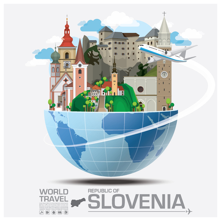 Republic Of Slovenia Landmark Global Travel And Journey Infographic Vector Design Template