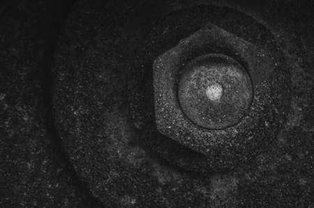 Rusted circular saw Фото со стока
