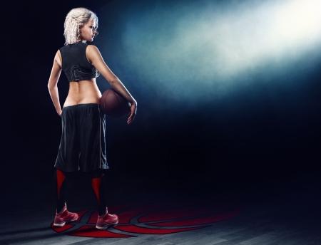 Basketball girl in jersey