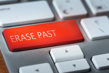 key words art: erase past on keyboard
