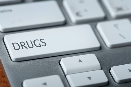 drugs on keyboard photo
